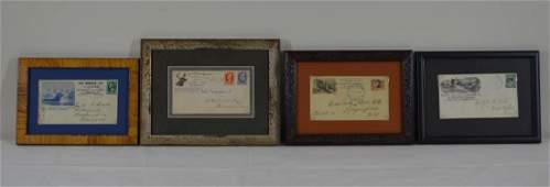 4 Framed Adirondack Hotel Envelopes