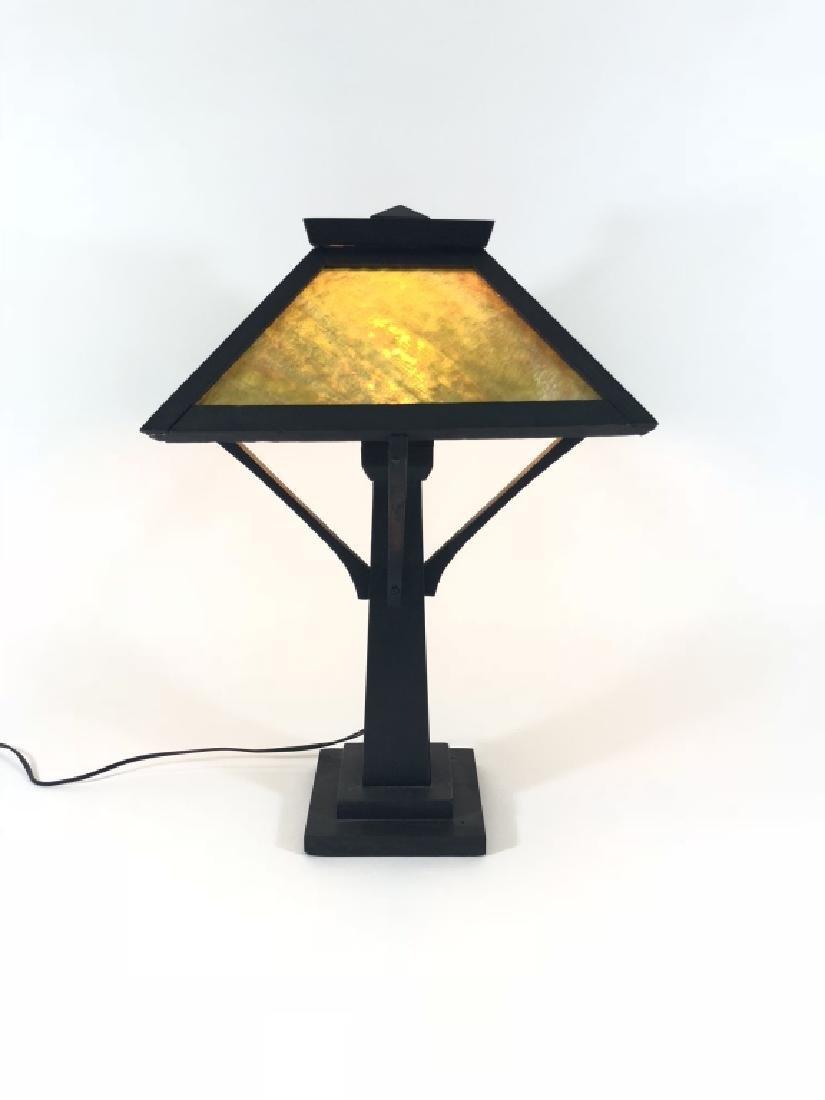 Arts & Crafts Mission Oak Table Lamp