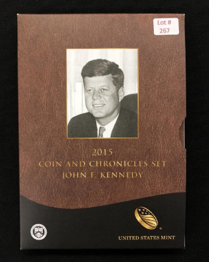 2015  John F Kennedy   Coin & Chronicles Set
