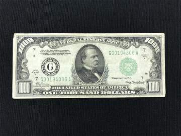 1934A Bank of Chicago $1,000 Bill