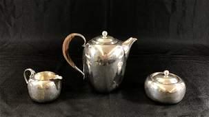 Georg Jensen Denmark Sterling 3 Piece Tea Set