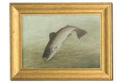 C Myron Clark 18581925 Oil on Canvas Painting