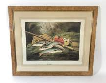 Large Folio Currier  Ives American Speckled Brook
