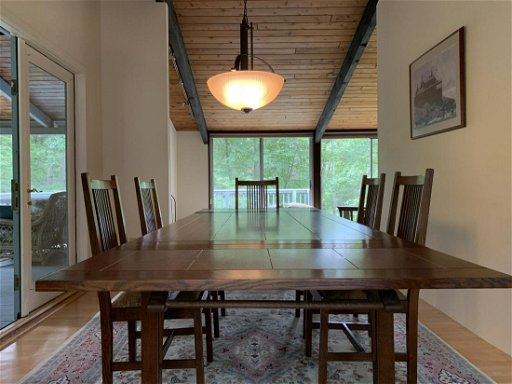 Modern Stickley Oak Dining Room Table w/ 8 Chairs