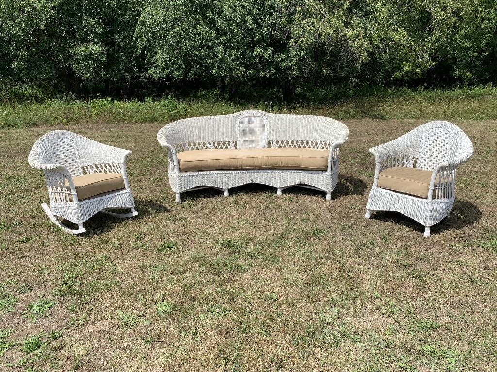 Antique 3 Piece Wicker Set