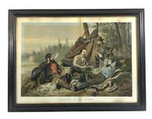 """Currier & Ives Large Folio """"Laying off"""""""
