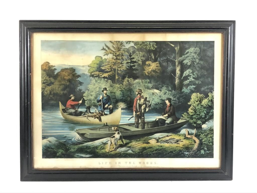 """Currier & Ives """"Returning to Camp"""""""