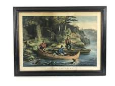 """Currier & Ives Life in the Woods """"Starting Out"""""""