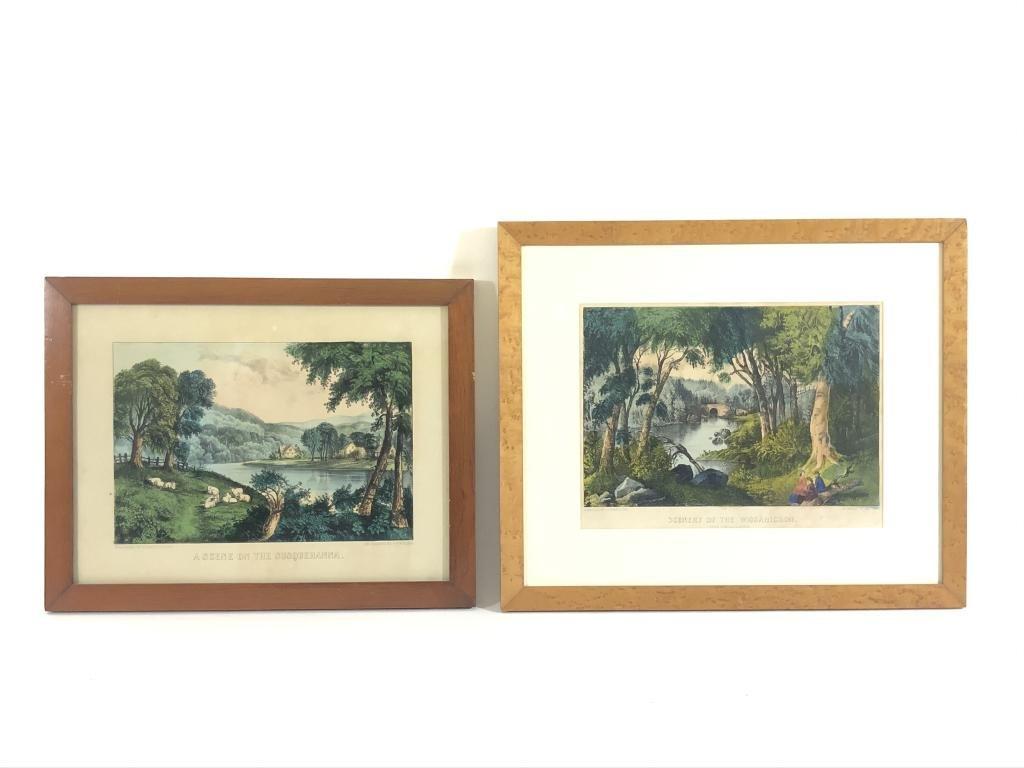 2 Currier & Ives Framed Lithographs