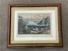 "Currier & Ives ""Placid Lake"" Adirondacks"