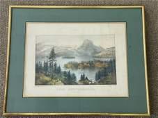 """Currier & Ives """"Lake Memphremagog"""" Owls Head"""