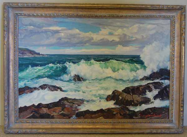 2: Stanley Woodward oil on canvas Seascape