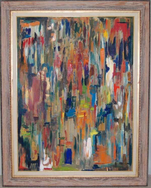 4: John Akins oil on canvas abstract