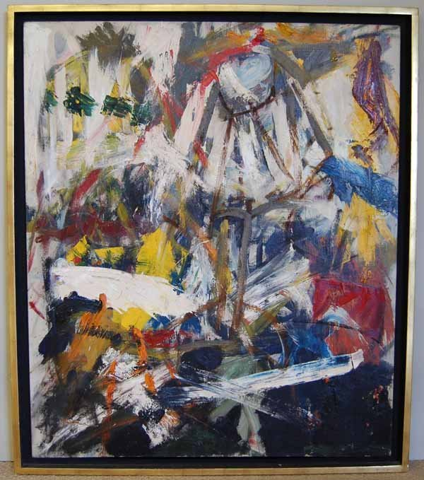 55: Michael Goldberg (1924-2007) oil on canvas abstract