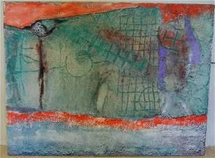 85: Enrico Donati (1909-2008) mixed media on canvas