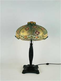 Pairpoint Reverse Painted Closed Top Table Lamp