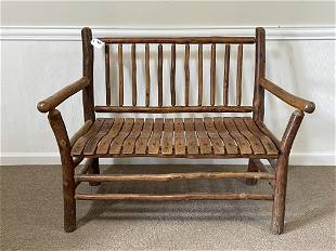Old Hickory Branded Settee