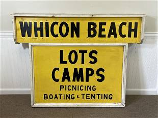 Whitcon Beach Wooden Painted Sign