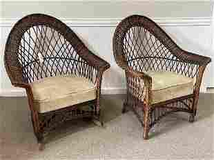 Bar Harbor Wicker Chair and Rocker