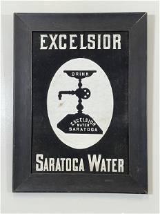 Excelsior Saratoga Water Framed Advertising Sign