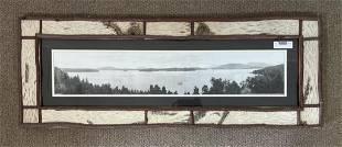Upper Saranac Lake Panoramic Photo by H.M. Beech