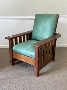 JM Young Mission Oak Morris Chair