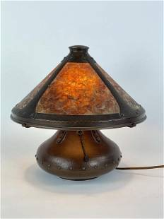 Aurora Hand Craft Hammered Copper Table Lamp