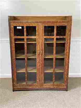 Signed Limbert Oak Bookcase Model 322
