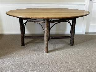 Old Hickory Oval Dining Room Table