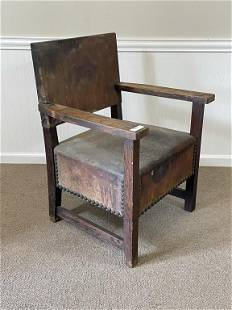 Early Mission Oak Arm Chair