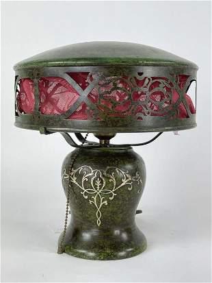 Heintz Sterling Overlay Table Lamp