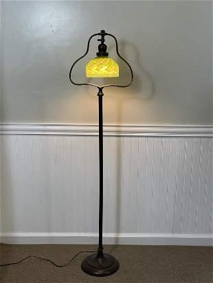 Handel Floor Lamp w/ Iridescent Shade