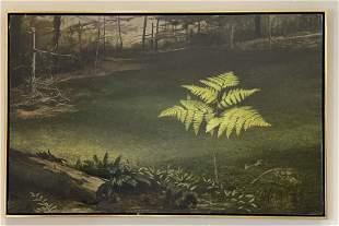 "Albert Sandecki Oil on Canvas Painting ""The Fern"""