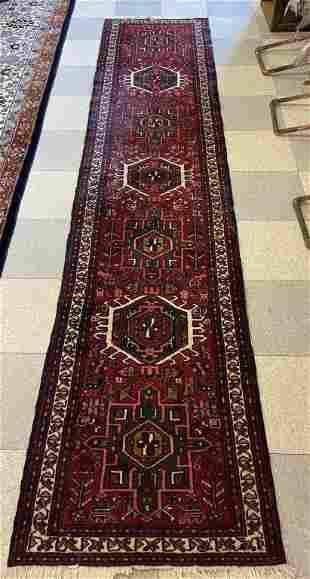 Oriental Hand Woven Wool Runner Rug
