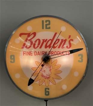 Borden's Dairy Advertising Clock