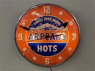 Arpeako Hots Advertising Clock