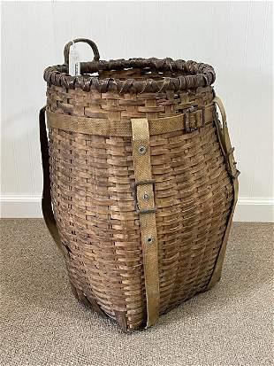 Adirondack Pack Basket w/ Canvas Straps