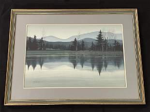 Robert Plumb (1933-1985) Adirondack Watercolor