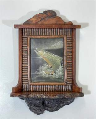 Jonathan Swartwout 2004 Oil Painting of Trout