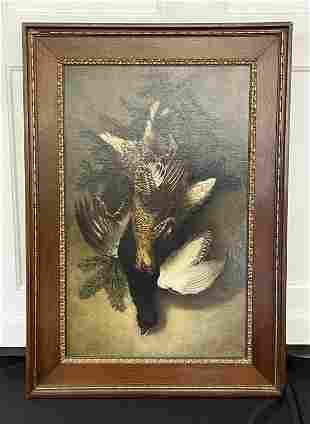 Von Valenzi Oil Painting of Hanging Game Birds