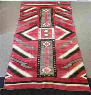 Red and Brown Navajo Blanket