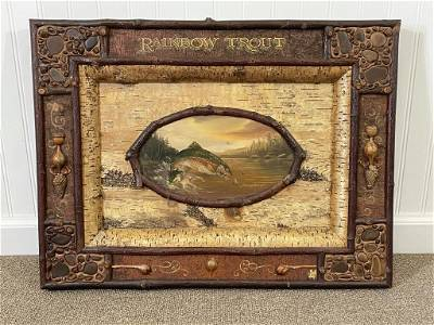 Barney Bellinger Rainbow Trout Oil Painting
