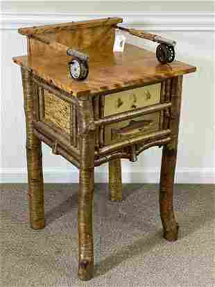 Barney Bellinger Adirondack End Stand with Trout