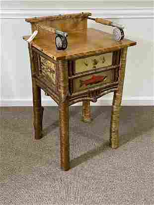 Barney Bellinger Adirondack End Stand with Salmon