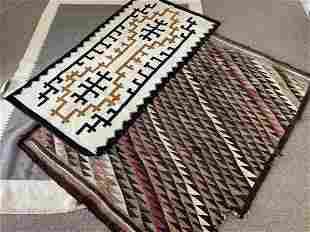2 Navajo Rugs and Center Seam Blanket