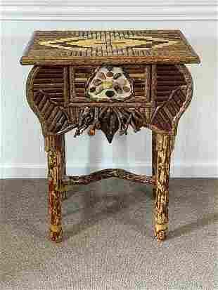 Michael Hutton Rustic Custom Single Drawer Stand