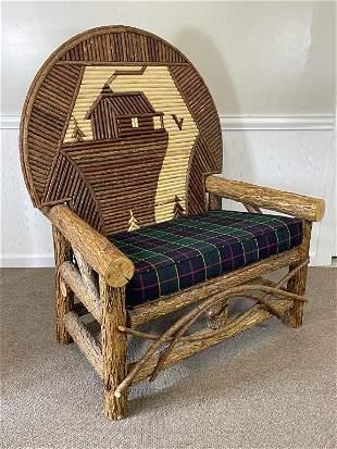 Michael Hutton Rustic Oversize Chair