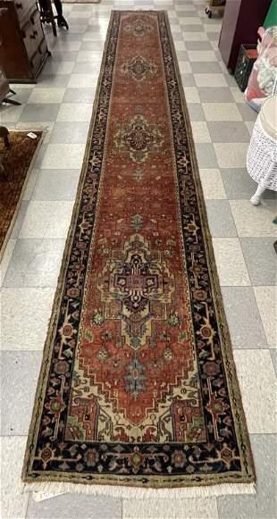 Hand Woven Oriental Runner Rug - 2 1/2' x 17 1/2'