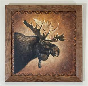 J.Q. Wright Contemporary Oil Painting of Moose