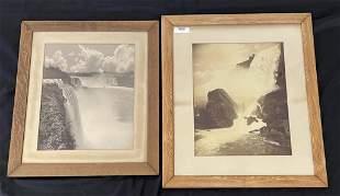 2 Black & White Lithographs of Niagara Falls